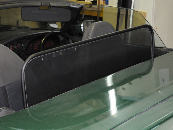 lotus elan m100 1989 1992 black mesh wind deflector