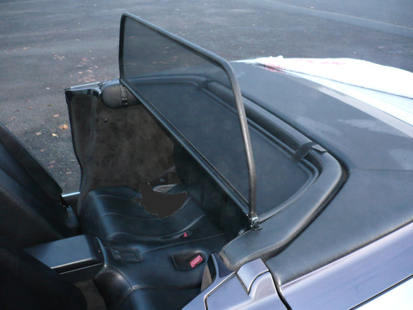 mercedes sl r129 1989 2001 black mesh wind deflector