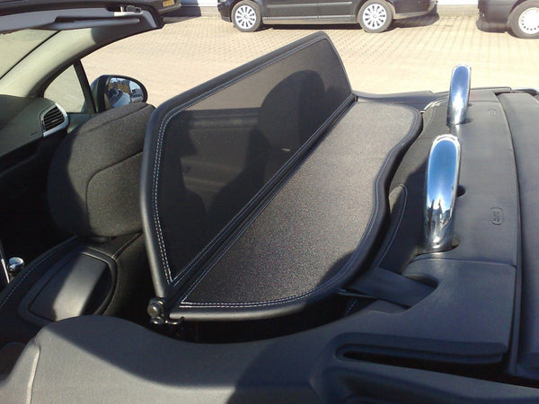 peugeot 207 cc 2007 onwards black mesh wind deflector