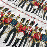 'Napoleonic soldiers' vintage curtains by David Whitehead for Heals