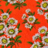 Incredible floral vintage towelling fabric
