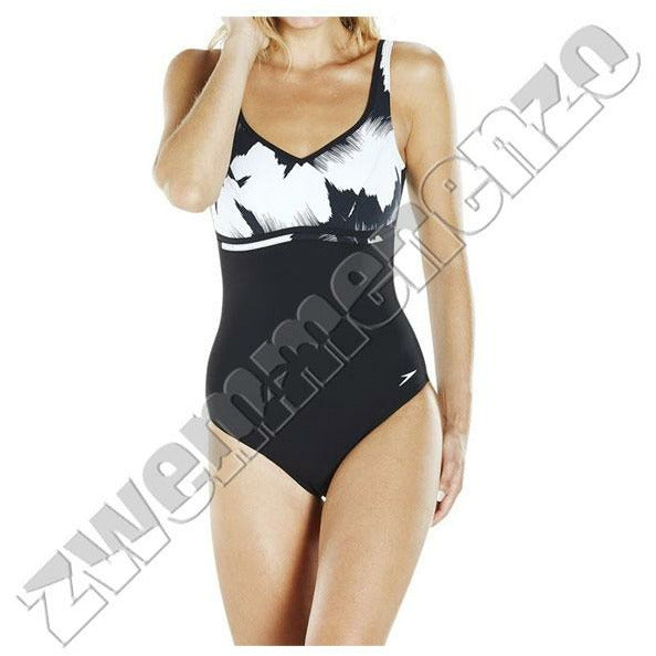 Speedosculpture Contourluxe printed 1 Piece black-white