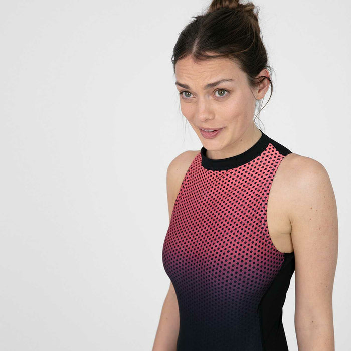 Hexagonal  Hydrasuit Swimsuit Zwart - Rood