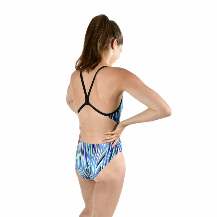 Speed Stripes Challenge Back One Piece - Groen/Multi