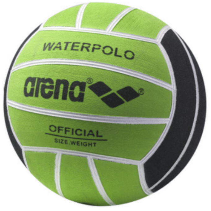 Water Polo Ball Jr Size 3 black/acid