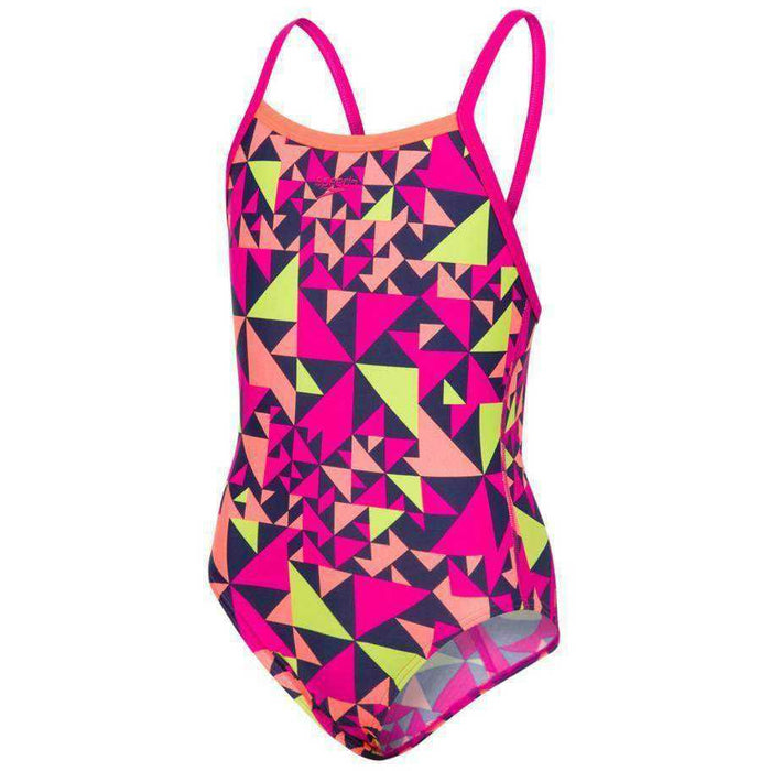 Girls Pool E10 Fluotime Allover Thinstrap Crossback