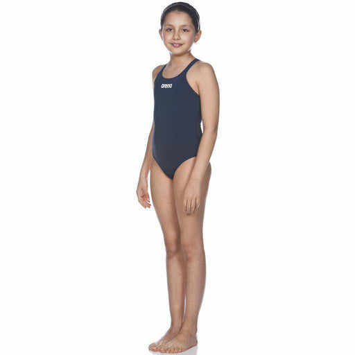 G Solid Swim Pro Junior Navy - Wit