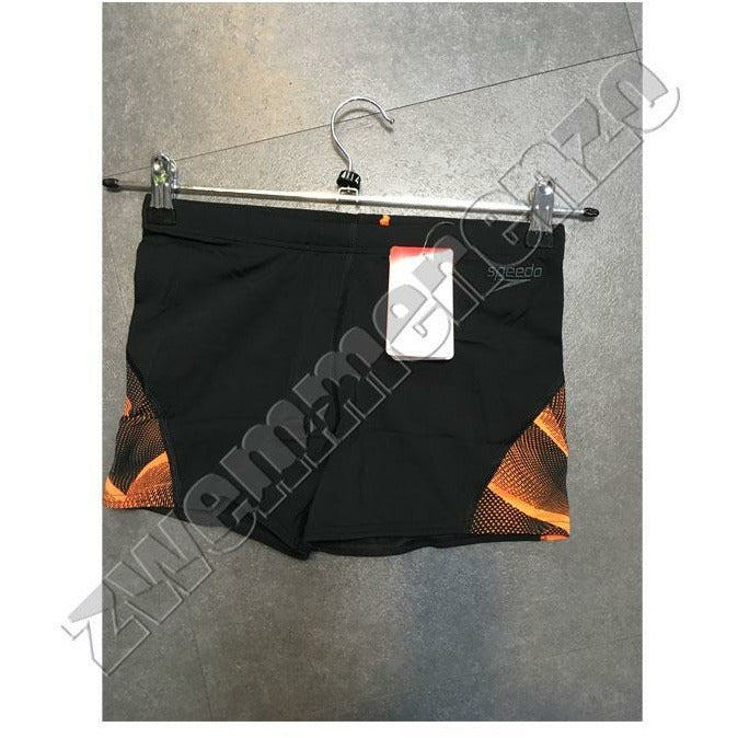 Speedo Curve Panel Aquashort black/orange