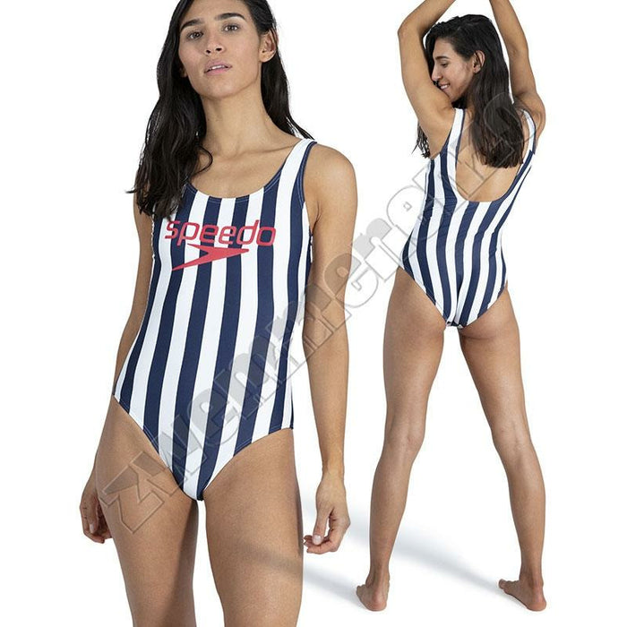 Speedo Heritage Ice Cream U-back navy-white