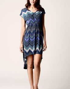 Women's Printed Hi-Low Dress | Grealz.com - Enjoy Free Shipping
