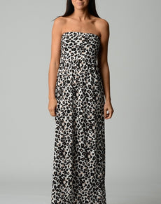 Abstract Stripe Maxi Dress | Grealz.com - Enjoy Free Shipping