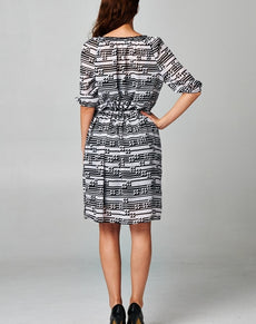 Women's Printed Chiffon Dress | Grealz.com - Enjoy Free Shipping
