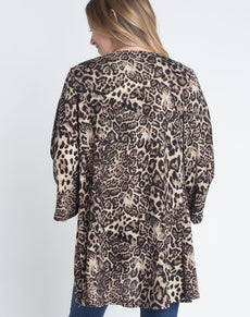 European Leopard Print Cardigan | Grealz.com - Enjoy Free Shipping