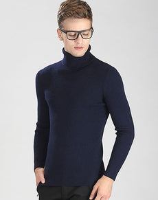 Turtleneck Sweater Men Knitted | Grealz.com - Enjoy Free Shipping