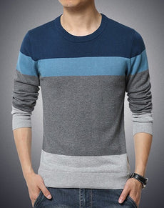 Sweater O Neck Striped Slim Fit | Grealz.com - Enjoy Free Shipping