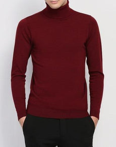 Sweater Men Turtleneck Slim Fit Winter | Grealz.com - Enjoy Free Shipping