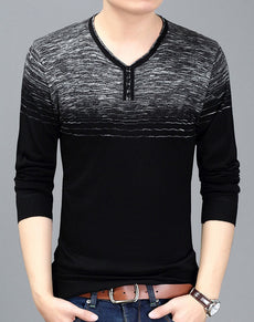 Pullover Sweaters V Neck Slim Fit | Grealz.com - Enjoy Free Shipping