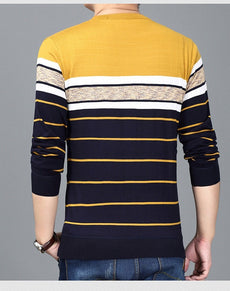 Knitted Sweater O Neck Slim Fit | Grealz.com - Enjoy Free Shipping