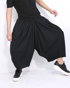 Linen Wide Leg Pant Punk Style | Grealz.com - Enjoy Free Shipping