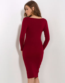 Sexy Knitted Sweater Dress | Grealz.com - Enjoy Free Shipping