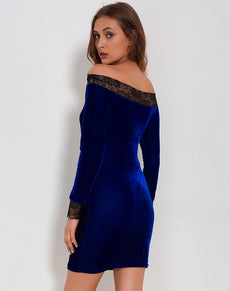 Velvet Lace Bodycon Dress
