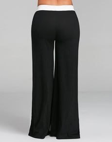Wide Leg Pants W/ Color Block | Grealz.com - Enjoy Free Shipping