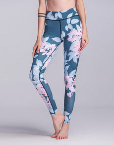 Floral Print Gym Leggings | Grealz.com - Enjoy Free Shipping
