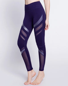 PU Leather Mesh Fitness Leggings | Grealz.com - Enjoy Free Shipping