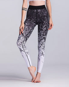 White & Black Gradient Leggings | Grealz.com - Enjoy Free Shipping