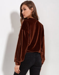 Lantern Velvet Sweatshirt | Grealz.com - Enjoy Free Shipping