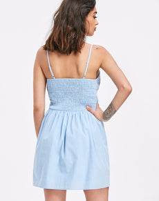 Knotted Cut Out Slip Dress | Grealz.com - Enjoy Free Shipping