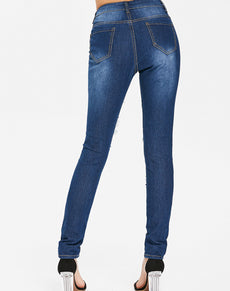 Pencil Distressed High Waist Jeans | Grealz.com - Enjoy Free Shipping
