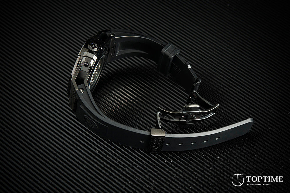 Dwiss Emme watch - all black - top view
