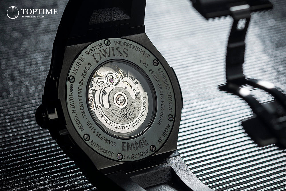 Dwiss Emme - all black - caseback