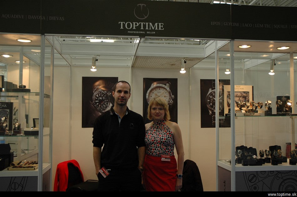 Peter Kozar with official Epos distributor - Mrs. Jezkova at the biggest watchfair in Slovakia