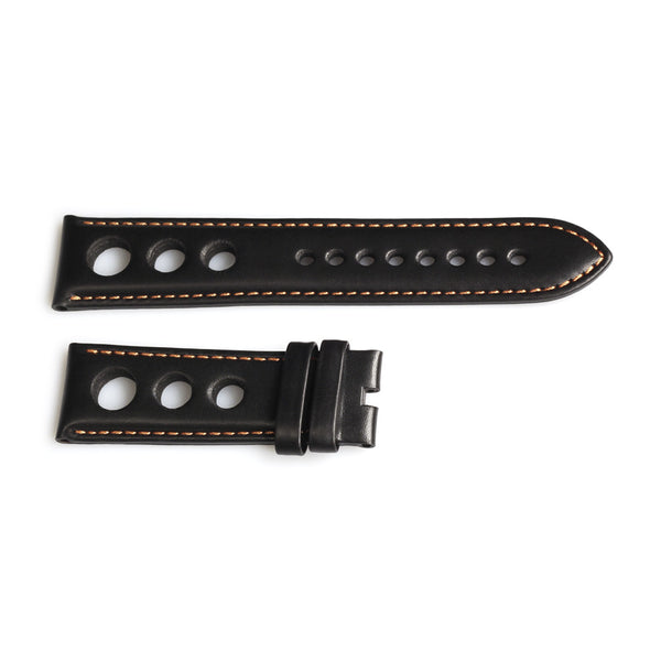 Steinhart racing strap black with contrast stitching orange, size L