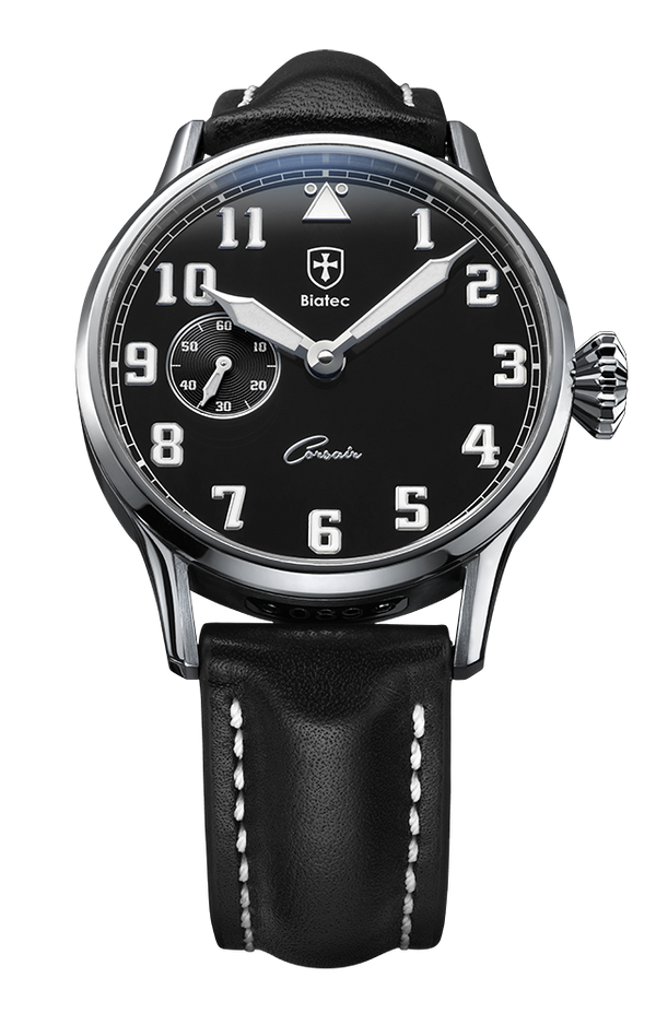 Biatec Corsair 01 - automatic pilot watch - black leather