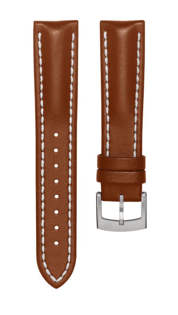 Leather strap for Biatec Corsair - light brown - steel buckle