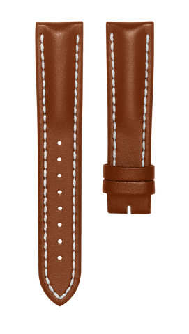 Leather strap - light brown - 20 mm