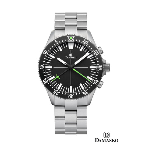 Damasko DC 80- green steel bracelet