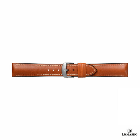 "DAMASKO RUBBER LEATHER STRAP ""JAMES"" - steel buckle"