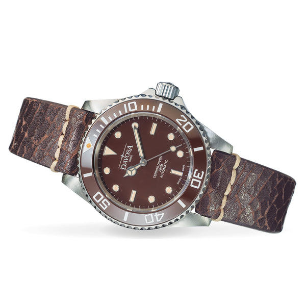 DAVOSA TERNOS CERAMIC - BROWN - VINTAGE LEATHER - www.toptime.eu