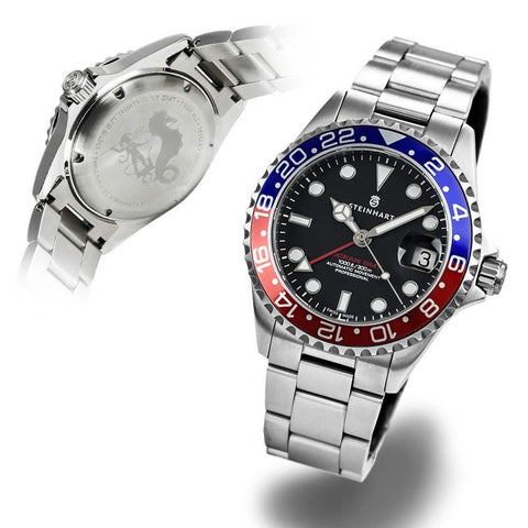 STEINHART GMT-OCEAN One 39 blue-red