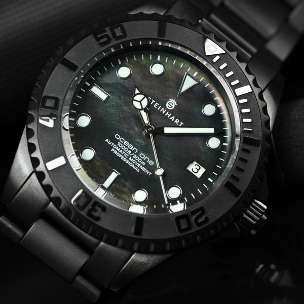 Steinhart OCEAN one 42 black DLC mother of pearl
