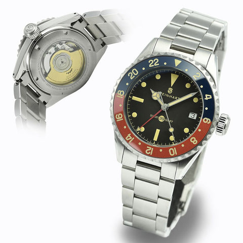 Steinhart Ocean 39 vintage GMT Premium blue/red - ceramic