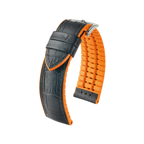 Hirsch Performance Andy - leather-rubber strap - orange