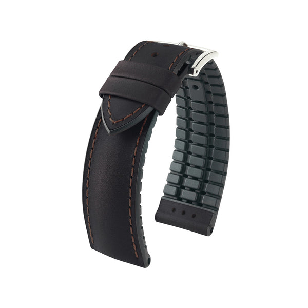 Hirsch Performance James - leather-rubber strap - brown - www.toptime.eu