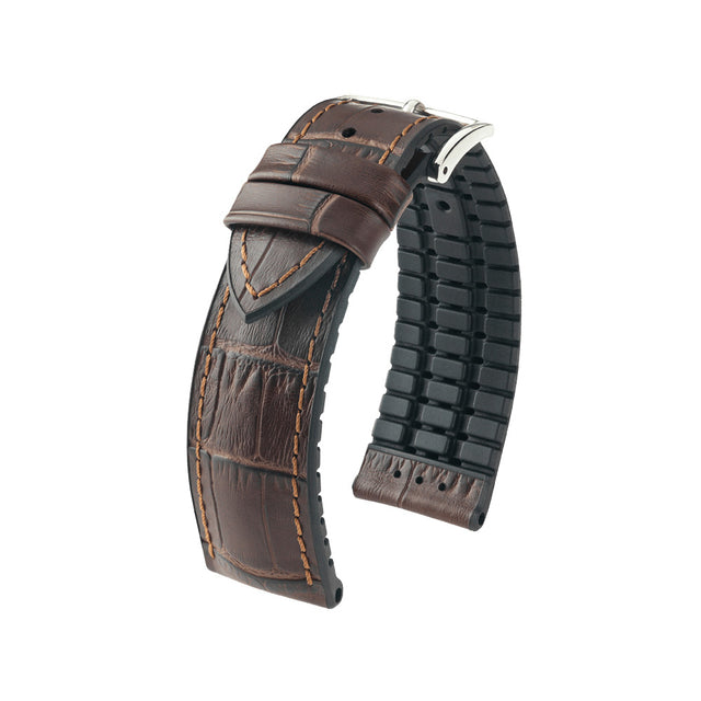 Hirsch Performance Paul - leather-rubber strap - brown - www.toptime.eu