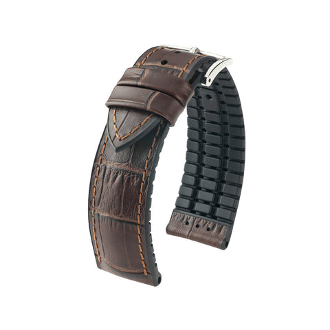 Hirsch Performance Paul - leather-rubber strap - brown