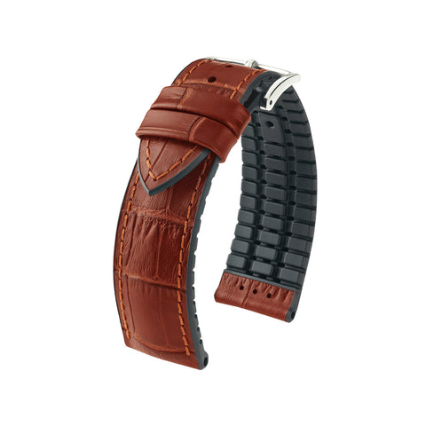 Hirsch Performance Paul - leather-rubber strap - goldenbrown
